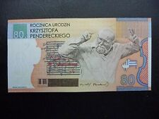 Poland 80th Birthday of Krzysztof Penderecki 2013 PWPW SPECIMEN TEST NOTE FOLDER