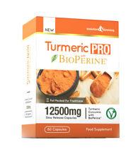 Turmeric PRO with BioPerine® 12,500mg 95% Curcuminoids 60 Capsules Max Strength