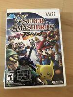 Super Smash Bros. Brawl (Nintendo Wii, 2008) Complete + Manual Tested & Works