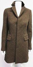 Ralph Lauren $2100 New Women's Brown Tweed Houndstooth Jacket Coat size  6