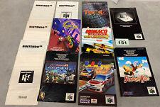 Nintendo 64 Instruction Manuals Bundle
