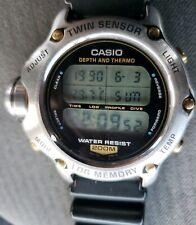CASIO Vintage Diver Quartz Twin sensor log memory DEP-600 Japan