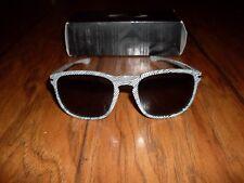 Women's Oakley Fingerprint Black/White Square Sunglasses NEW