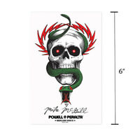 "Powell Peralta Mike McGill Skull and Snake Skateboard Sticker 6"" Bones Brigade"