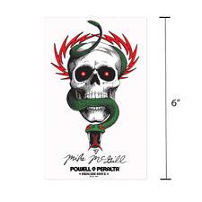 "Powell Peralta Mike McGill Skull and Snake Skateboard Sticker 6"" Bones Brigade"