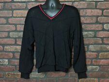 titleist by corbin Sweater Mens S Black 100% Wool Wind Resistant Lining Golf XCR