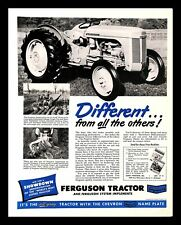 1947 Ferguson Tractor Vintage PRINT AD Farm Machinery Plow Implement Agriculture