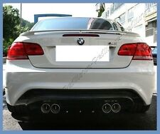 Pick Color 07-13 BMW E92 3 Series Coupe OE Type Trunk Spoiler Lips 328i 335i M3