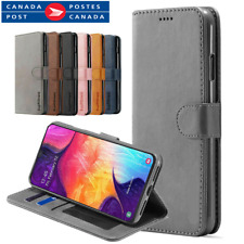 For Samsung Galaxy A70 A50 A20 A10e A90 Genuine Leather Wallet Flip Case Cover