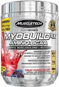MUSCLE TECH MYOBUILD 4XAMINO -BCAA 332G