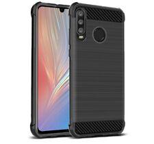 Funda Gel Tpu Anti-Shock Carbon Negra para Huawei P30 Lite