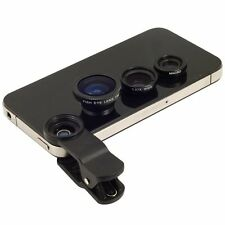 3in1 180 Fish eye+Wide Angle + Macro Camera Photo Zoom Lens For Apple iPhone 7