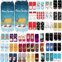 Womens 3D Cartoon Funny Christmas Crazy Cute Amazing Novelty Print Ankle Socks P