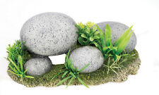 Pebble Rock Garden Aquarium Vivarium Basking Ornament Fish Tank Decoration