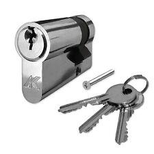 Kenrick Half Euro Cylinder Door Lock Nickel Plated Garage Doors 35/10