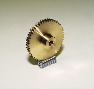 Schneckenrad, Schneckengetriebe, Schnecke, Modul 0,5, Messing/Stahl