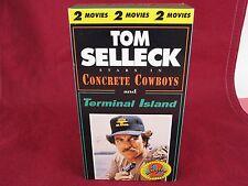 Rare Tom Selleck Double Feature VHS Terminal Island/Concrete Cowboys