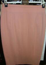 LAUREL Wool SKIRT Pencil Peach Orange Jupe 38 6 8 AsNEW~STORE + DESIGNER Labels