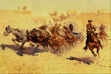 522054 Attack On The Supply Wagon Frederic Remington A4 Photo Print