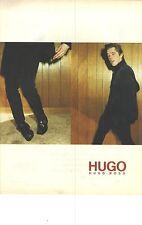 PUBLICITE ADVERTISING 1996   HUGO BOSS haute couture veste et pantalon pour lui