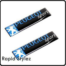2 x Peugeot Sport Car Badge Emblem Sticker Wing Door side Rally Motorsport (83)