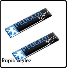 2 x Peugeot Sport Car Badge Emblem Sticker Wing Door side Rally Motorsport (83)