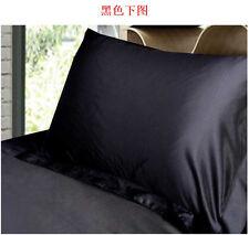 Summer New Silk Satin Soft Pillow Cases Queen Standard Comfort Solid Protector