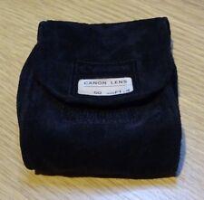 Canon  Soft Black Suede Lens Case Pouch for FD lenses LS-A9
