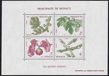 1983 MONACO BLOC N°26** BF SAISONS fruits figuier figues,  fig Sheet MNH