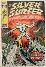 "(1970) SILVER SURFER #18 ""The Unbeatable Inhumans""! Rare Last Issue!"