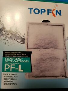 "NEW 2 Count Pkg of Top Fin SilenStream Filter Cartridges PF-L Large 6.5"" x 4.5"""