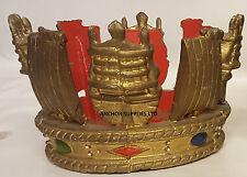Estremamente raro-Queens NAVE DA GUERRA Coronet Flagstaff Pennone Finial (1)