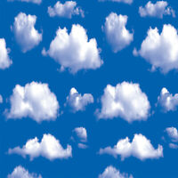 10M Peel and Stick Contact paper Self Adhesive Sticker Film Cloud Sky Home Decor