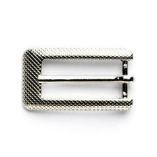Rectangular Buckle: 15mm: Silver