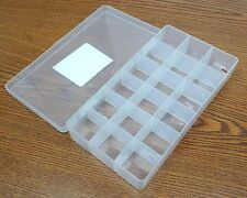 "Lite-Tuff No. 26 Series polypropylene Conductive Box  8x4-1/8"" 18 compartments"