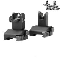 Aluminum Front & Rear Iron BUIS Sight Set Flip up Rapid Transition Set 3Mil Spec