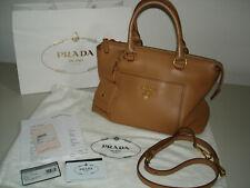 PRADA Tote Bag Handtasche Caramel 1BA063 Vit. Daino Kalbsleder w.NEU 1300,00 EU