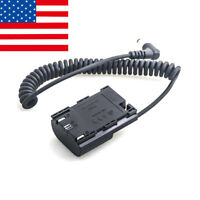 【US】DC Dummy Battery Power Adapter Cable For Canon LP-E6 EOS 5D4 80D 7D II 60D