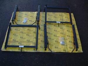 2 Sitzkonsolen+2 Laufschienen passend für OPEL Kadett C  für 2 Sportsitze 405mm