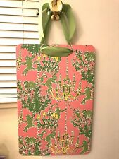 LILLY PULITZER MAGNETIC MEMO PICTURE BULLETIN BOARD GREEN PINK MONKEY CHANDELIER