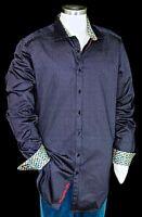 "Robert Graham ""Guthrie"" NWT $255 Purple Geometric Printed Sports Shirt 1XLB 3XL"