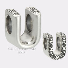 Authentic Pandora Sterling Silver Letter U Bead 797475