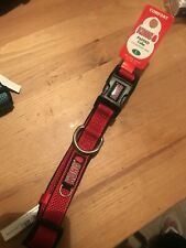 New With Tags Kong Comfort , Dog Collar Crisp Red Lrg 18-26�