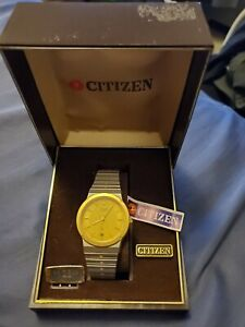 Rare Vintage Citizen 3810-882992SMK Two-Tone Quartz Men's Watch (New Old Stock)