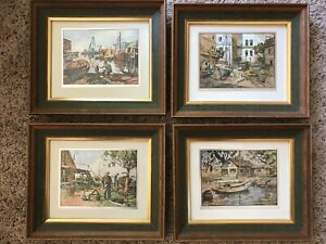 4 Vintage LIONEL BARRYMORE Color-Enhanced Foil Etchings