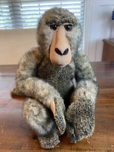 """Realistic Baboon Monkey Primate 14"""" Plush Toys R Us 2000 Retired! Realistic NICE"""