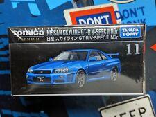 TOMICA PREMIUM #11 NISSAN SKYLINE GT-R V-SPEC II Nur 1/62 SCALE NEW IN BOX