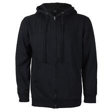 Men's Cotton Blend Zip Up Drawstring Fleece Lined Sport Gym Sweater Hoodie