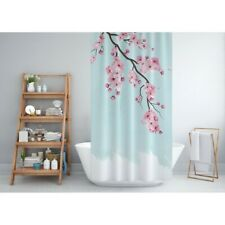 Shower Curtain Digital Print Flower Pattened Quality Polyester Fabric 180x200cm