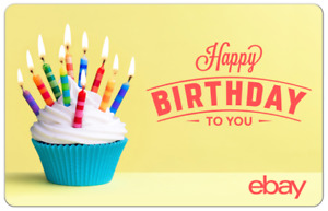 Happy Birthday Cupcakes - eBay Digital Gift Card $25 to $200 - Email Delivery